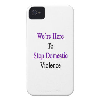 We're Here To Stop Domestic Violence iPhone 4 Cover
