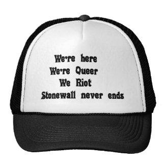 We're here, we're queer trucker hat