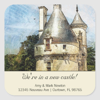 We're in a New Castle Custom New Address Square Sticker
