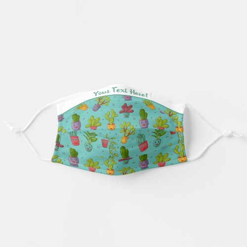 Were In This Together _ Cute Smiling Cactus Cloth Face Mask