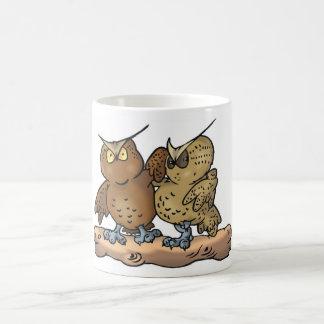 We're just a coupleof ole hoots cup classic white coffee mug