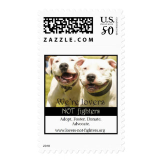 We're Lovers Not Fighters Stamp, medium Postage