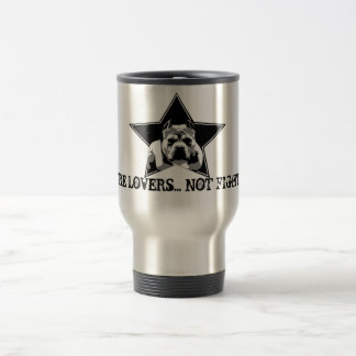 We're Lovers Not Fighters Travel Mug - Great Gift