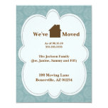 """We're Moving Announcement Cards 4.25"""" X 5.5"""" Invitation Card"""