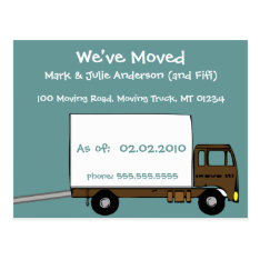 We're Moving Announcement Postcards at Zazzle
