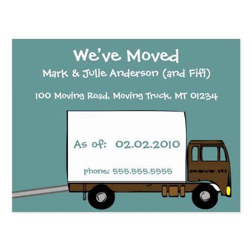 moving announcement postcards postcard template designs zazzle. Black Bedroom Furniture Sets. Home Design Ideas