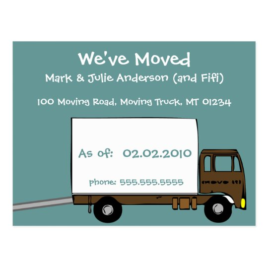 we 39 re moving announcement postcards. Black Bedroom Furniture Sets. Home Design Ideas