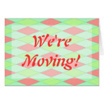 We're Moving announcements template Stationery Note Card