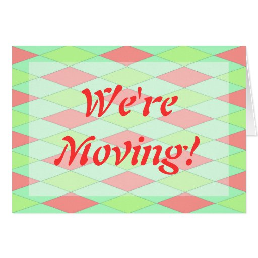 we 39 re moving announcements template cards zazzle. Black Bedroom Furniture Sets. Home Design Ideas