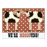 We're Moving! Funny Country Cows Housewarming 5x7 Paper Invitation Card