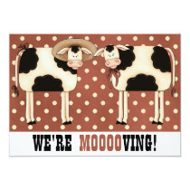 We're Moving! Funny Country Cows Housewarming Card