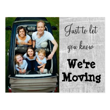 Professional Business We're Moving Gray Photo New Address Postcards