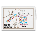 We're Moving Greeting Card