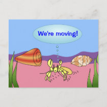 We're Moving Hermit Crab Change of Address Cards