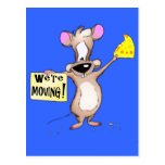 We're Moving! mouse Post Card