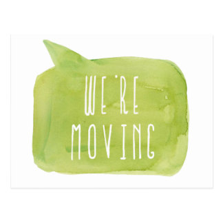 We're Moving New Address House Home Photo Postcard