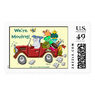 We're Moving! Postage