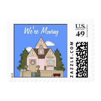 We're Moving Postage