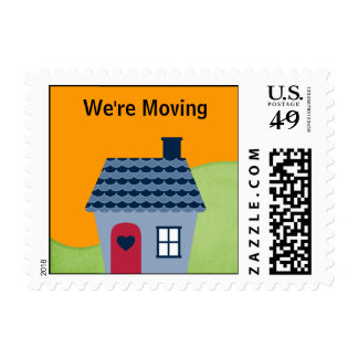We're Moving Postage Stamps