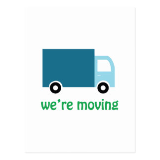 Were Moving Postcard