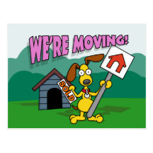 We're Moving Postcards