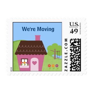 We're Moving Stamp