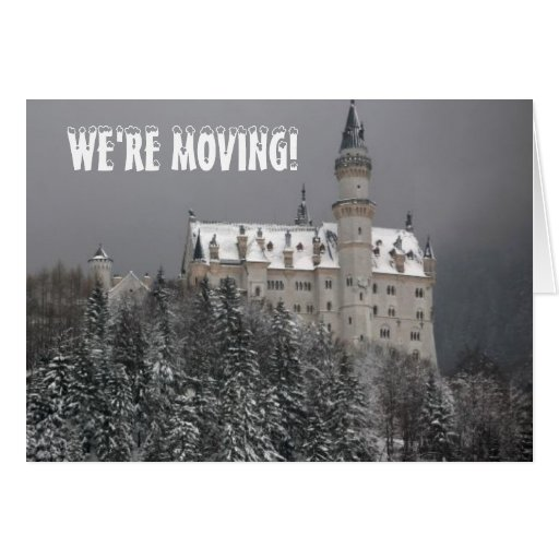 WE'RE MOVING! STATIONERY NOTE CARD