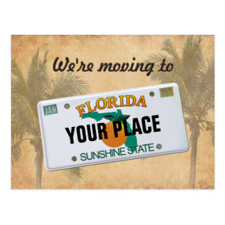 We're moving to Florida Postcard