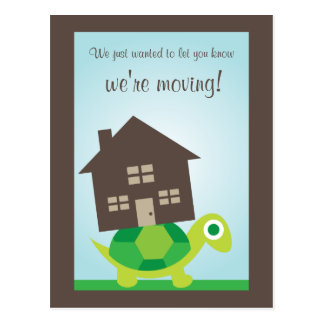 We're Moving - Turtle Mover Postcard