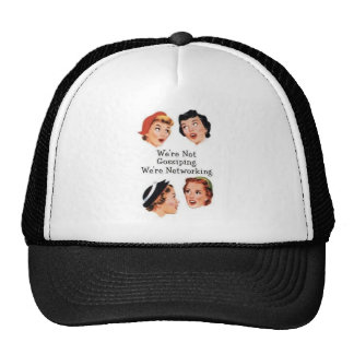 We're networking--NOT gossiping!! Mesh Hat