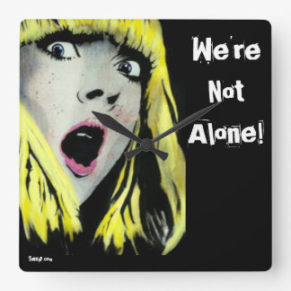 'We're Not Alone!' Wall Clock