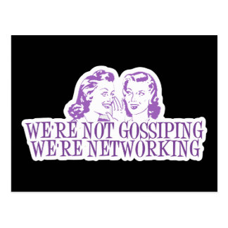 We're Not Gossiping We're Networking Purple Postcard