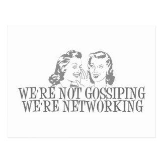 We're Not Gossipping We're Networking Grey Postcard