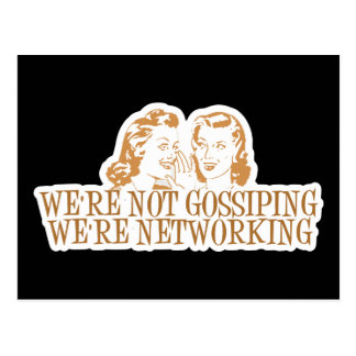 We're Not Gossipping We're Networking Orange Postcard