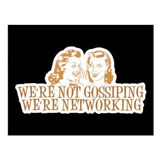 We're Not Gossipping We're Networking Orange Postcard