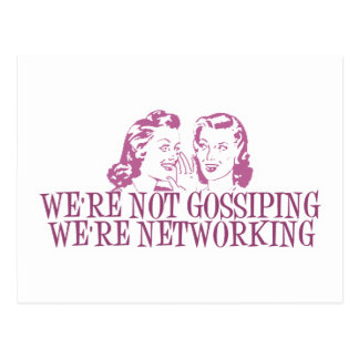 We're Not Gossipping We're Networking Pink Postcard