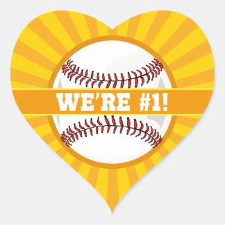 We're Number 1 Heart Sticker