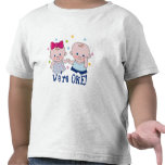 We're One Boy & Girl Birthday T-shirt