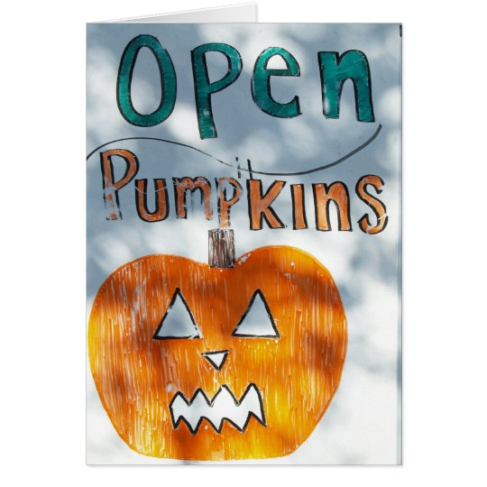 We're Open Card
