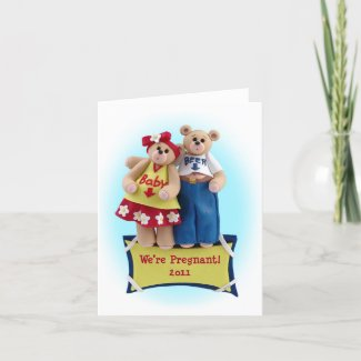 We're Pregnant Greeting Card card