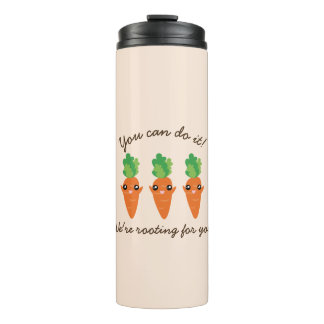 We're Rooting For You Funny Encouraging Carrots Thermal Tumbler