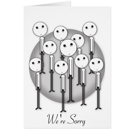 We're Sorry Apology Card - Customizable Text