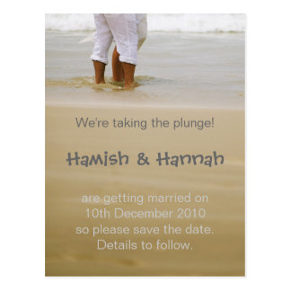 We're taking the plunge! post card