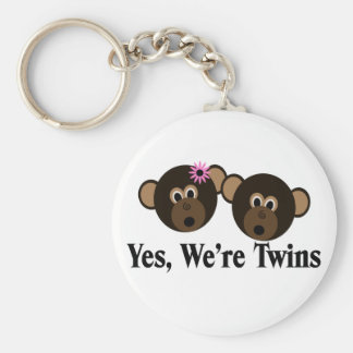 We're Twins 1G1B Monkeys Key Chain