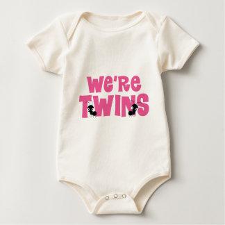 We're Twins Girls Twins Baby Bodysuits