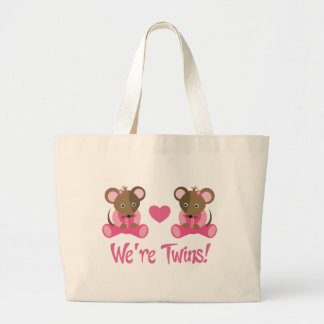 We're Twins Pink Girl Mice Gift Bags