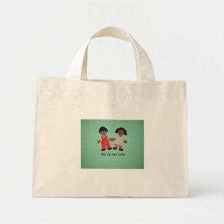 We're two cute! mini tote bag