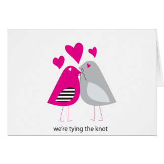 were tying the knot card