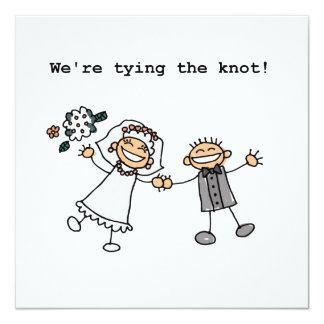 We're Tying the Knot Personalized Invites