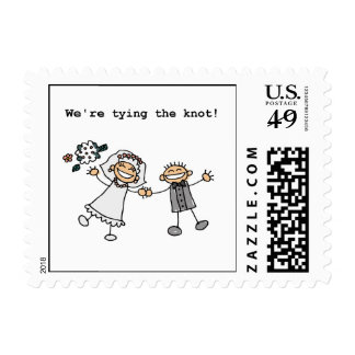 We're Tying the Knot Postage Stamp